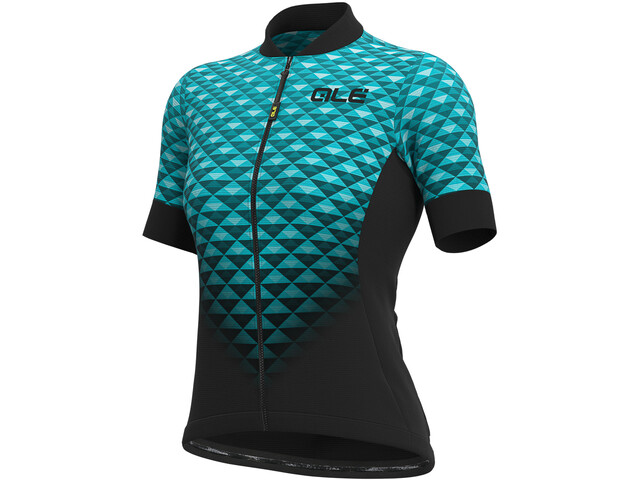Alé Cycling Solid Hexa SS Jersey Dame black/turquoise